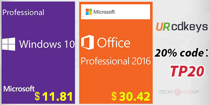 URCDKeys Now Selling Windows 10 Pro OEM and Office 2016 Lifetime