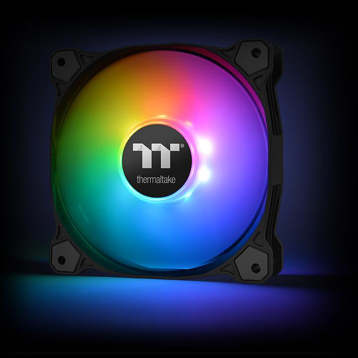 Thermaltake Launches Pure Plus 12 LED RGB Radiator Fan   TechPowerUp