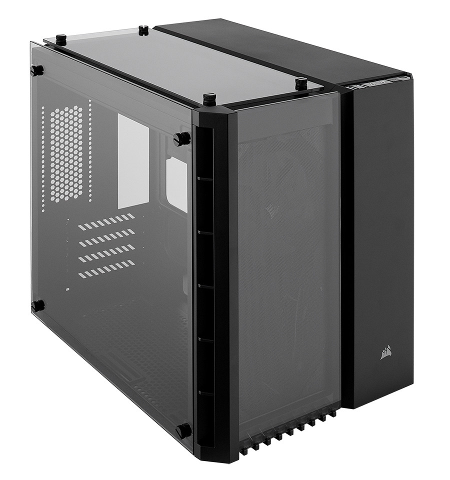 Corsair launches crystal series 280x rgb case techpowerup for Case pc colorati