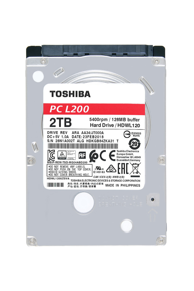 Toshiba Also Announces the P300, L200, X300, and N300 Hard
