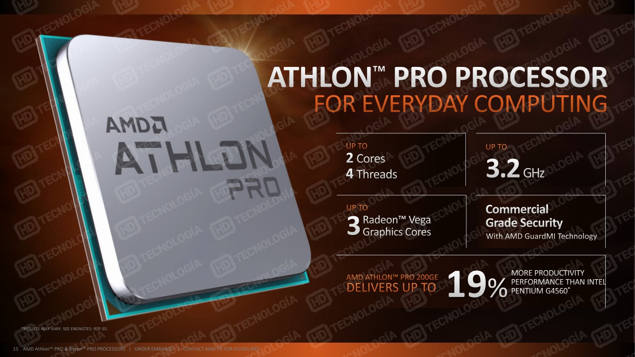 amd athlon pro 200ge detailed  an extremely cut