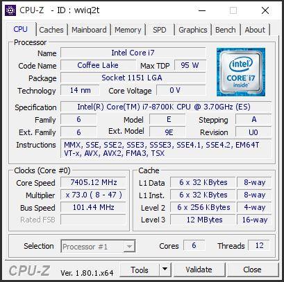 Intel Core i7 8700K Already OC'd to 7 45 GHz under LN2