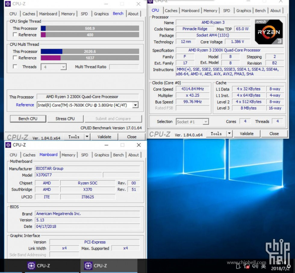 First Benchmarks, Photo of AMD's Ryzen 3 2300X Surface | TechPowerUp