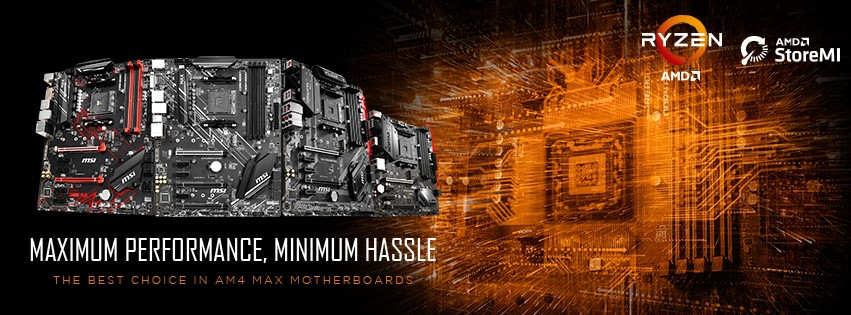 MSI AMD 400-series and 300-series MAX Motherboards Now