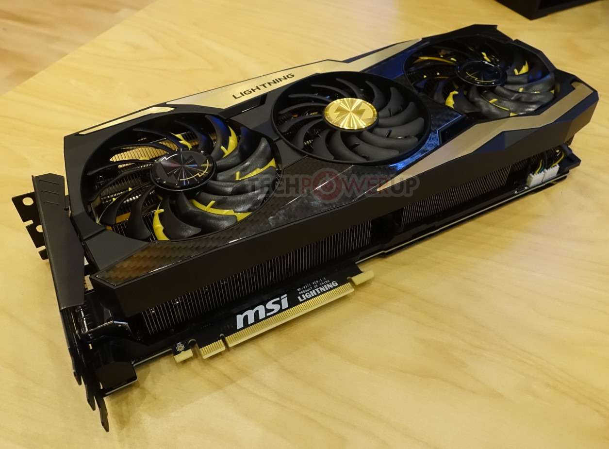 MSI's RTX 2080 Ti Lightning Z, Among Other Offerings, Smiles