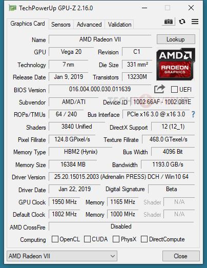 AMD Radeon VII Has No UEFI Support | TechPowerUp