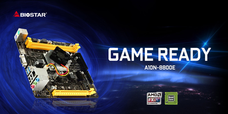 BIOSTAR Launches Gaming-Ready A10N-8800E SoC Motherboard