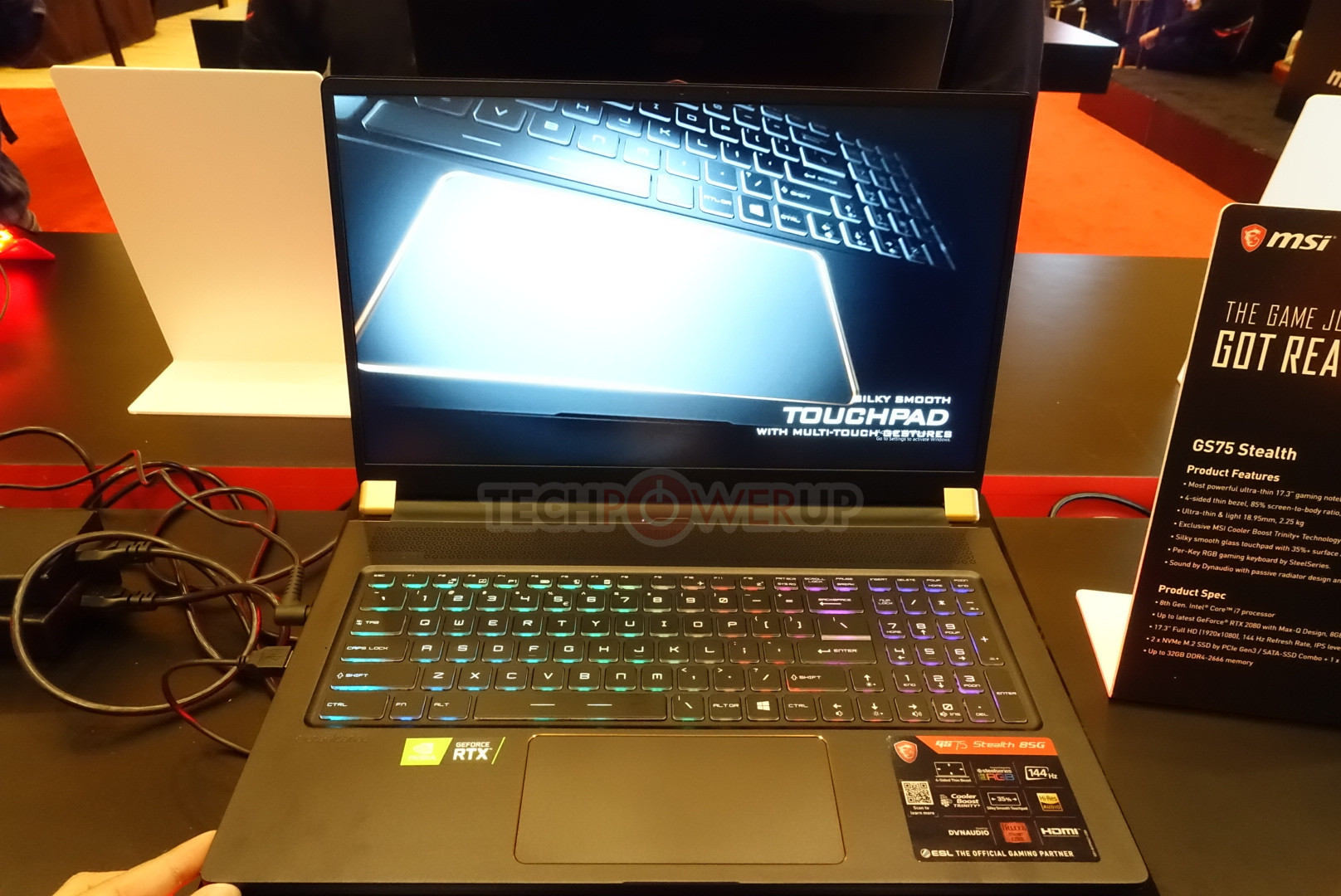 MSI Shows Off GS75 Stealth and GE75 Raider Among Other