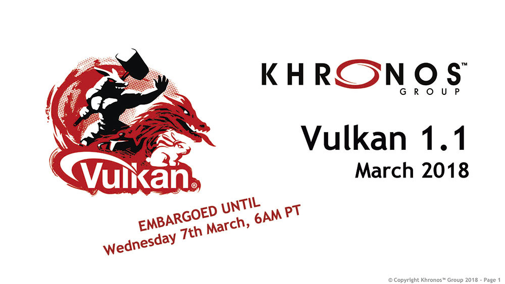 Khronos Group Releases the Vulkan 1.1 Specification | TechPowerUp