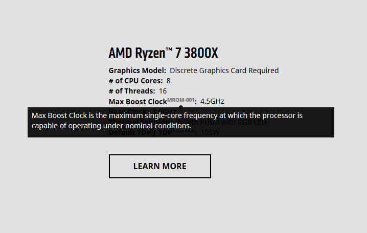 AMD Updates Ryzen Product Pages to Elaborate on