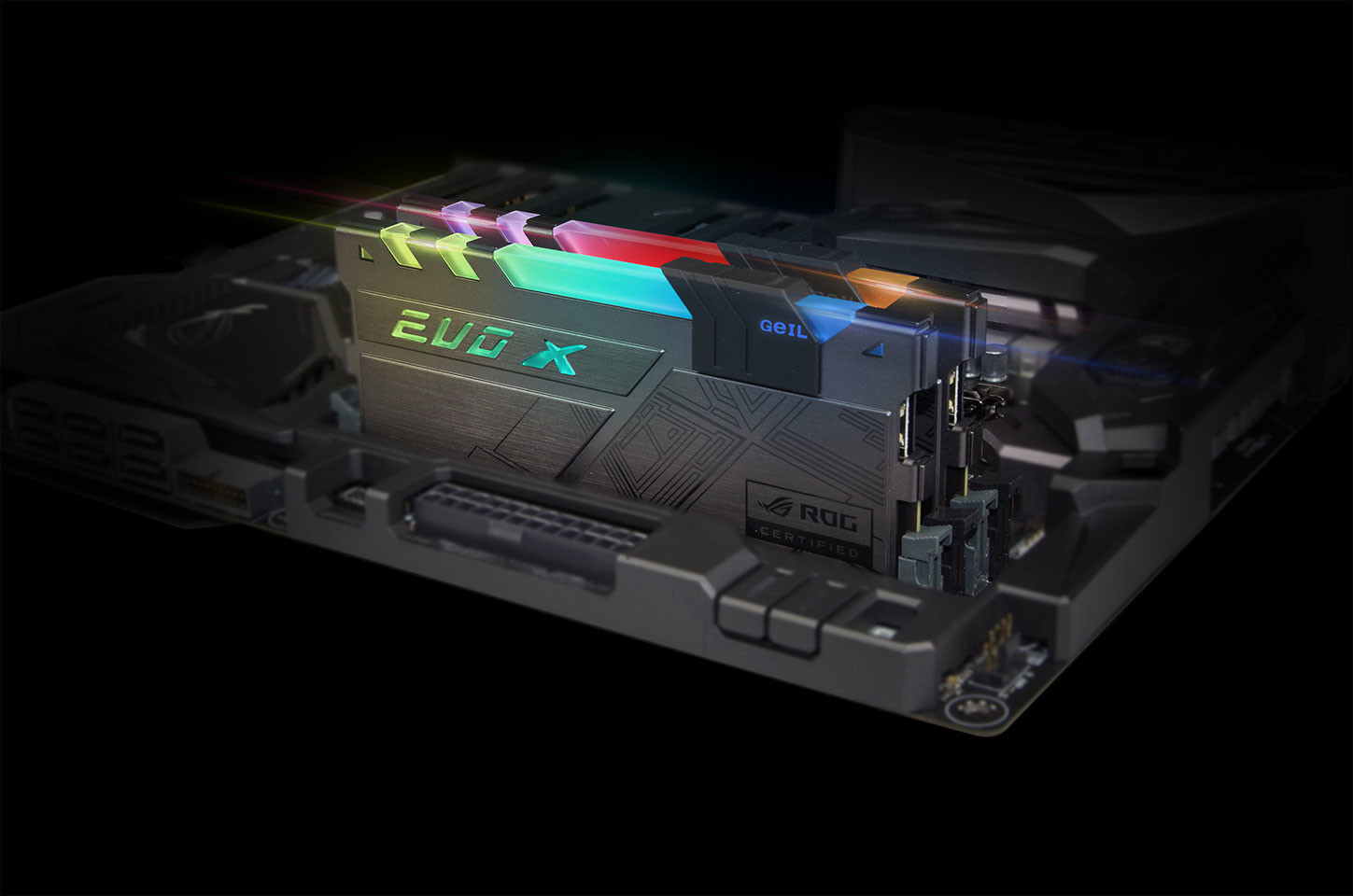 GeIL Announces EVO-X RGB Memory with ASUS ROG Certification