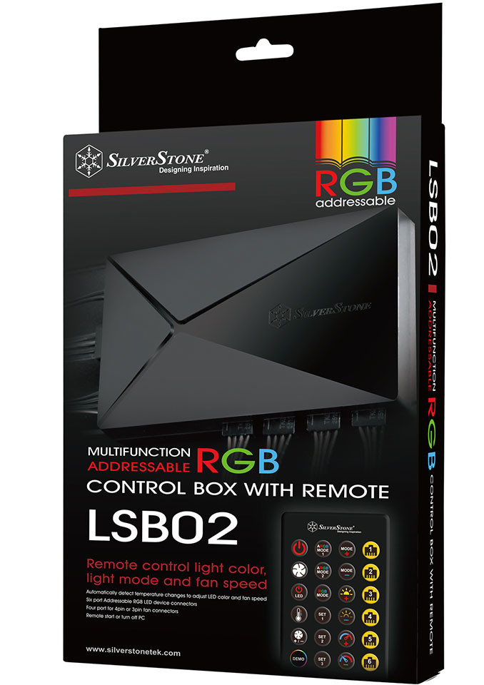 SilverStone Intros LSB02 Addressable RGB + Fan Controller with