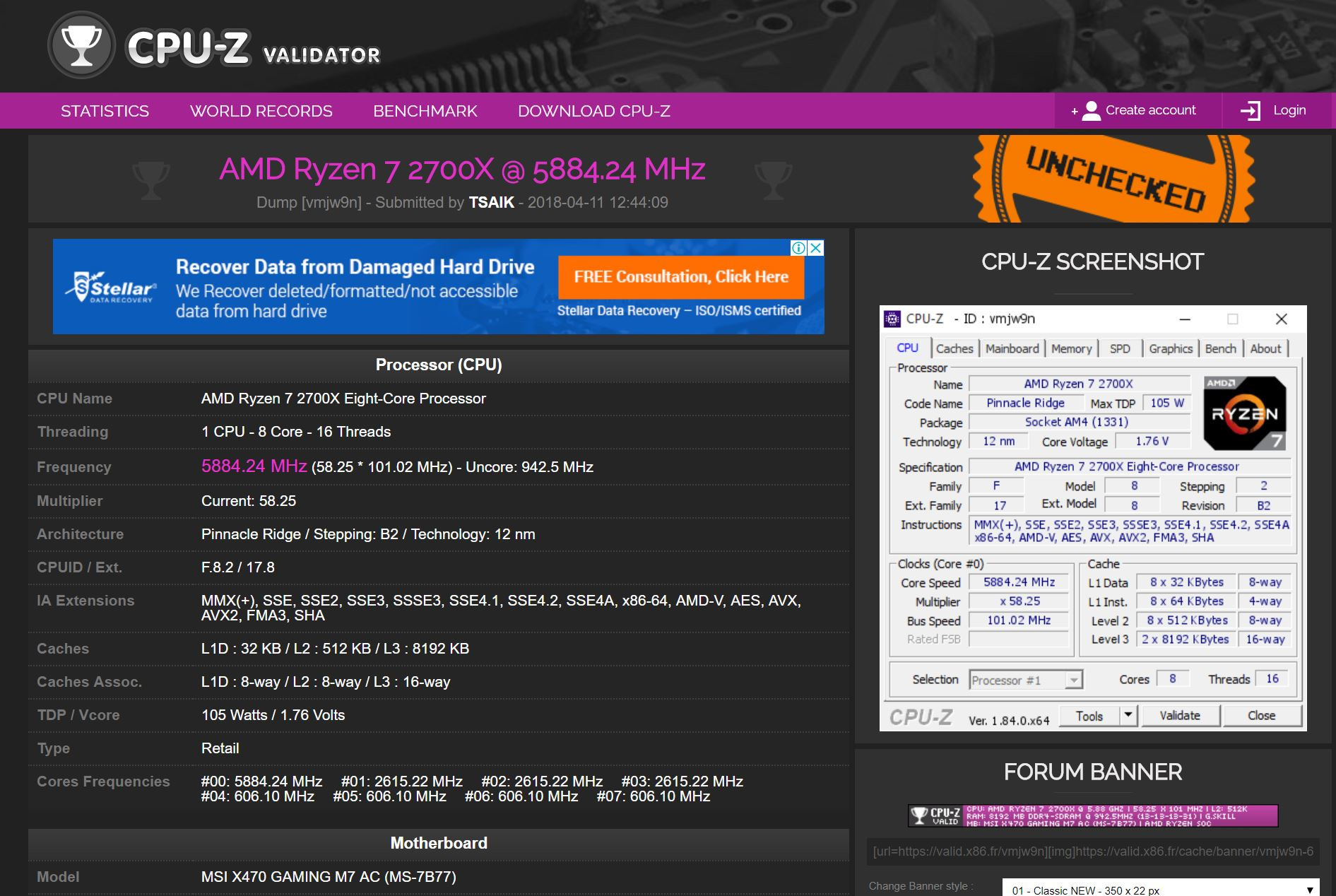 AMD Ryzen 7 2700X and Ryzen 5 2600X Overclock to 5 88 GHz