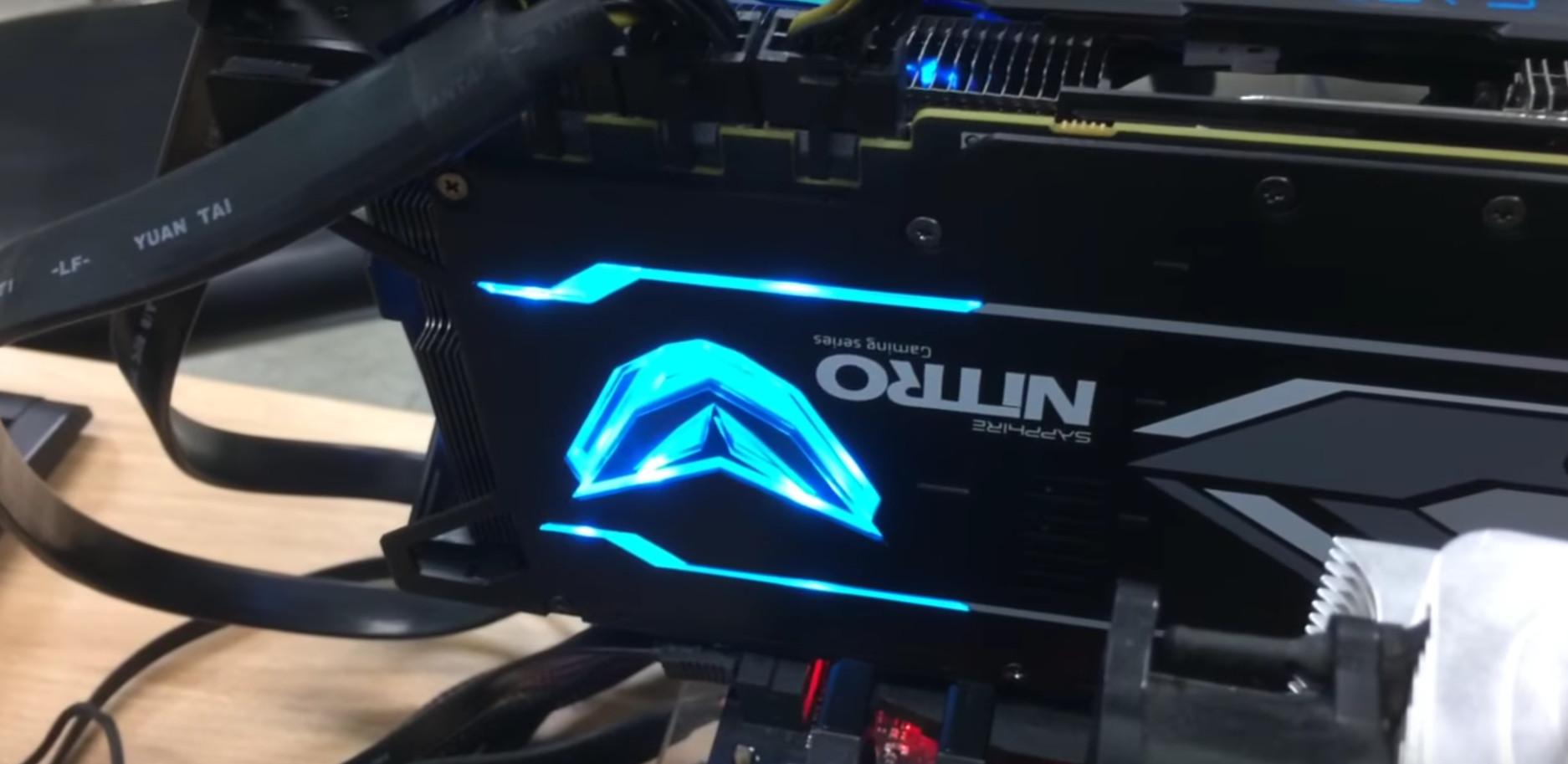 Sapphire Radeon Rx Vega 64 Nitro Custom Model Pictured