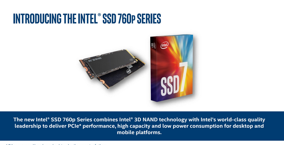 Intel Releases Its SSD 760p to the Wild With Competitive Pricing