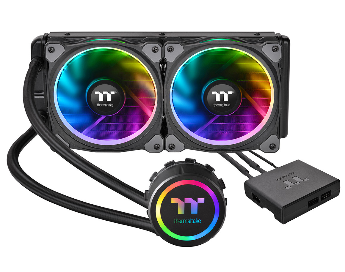 Thermaltake Announces Floe Riing Rgb Tt Premium Edition Coolers Create Secondary Colors From Multicolored Leds Edn Patented Plus Radiator Fan A High Static Pressure With 168 Million Led Ring And 12 Addressable
