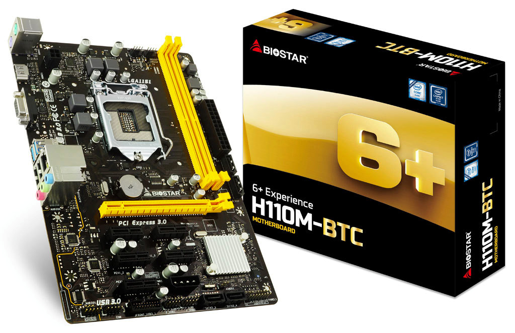 BIOSTAR Announces the H110M-BTC Micro-ATX Motherboard for