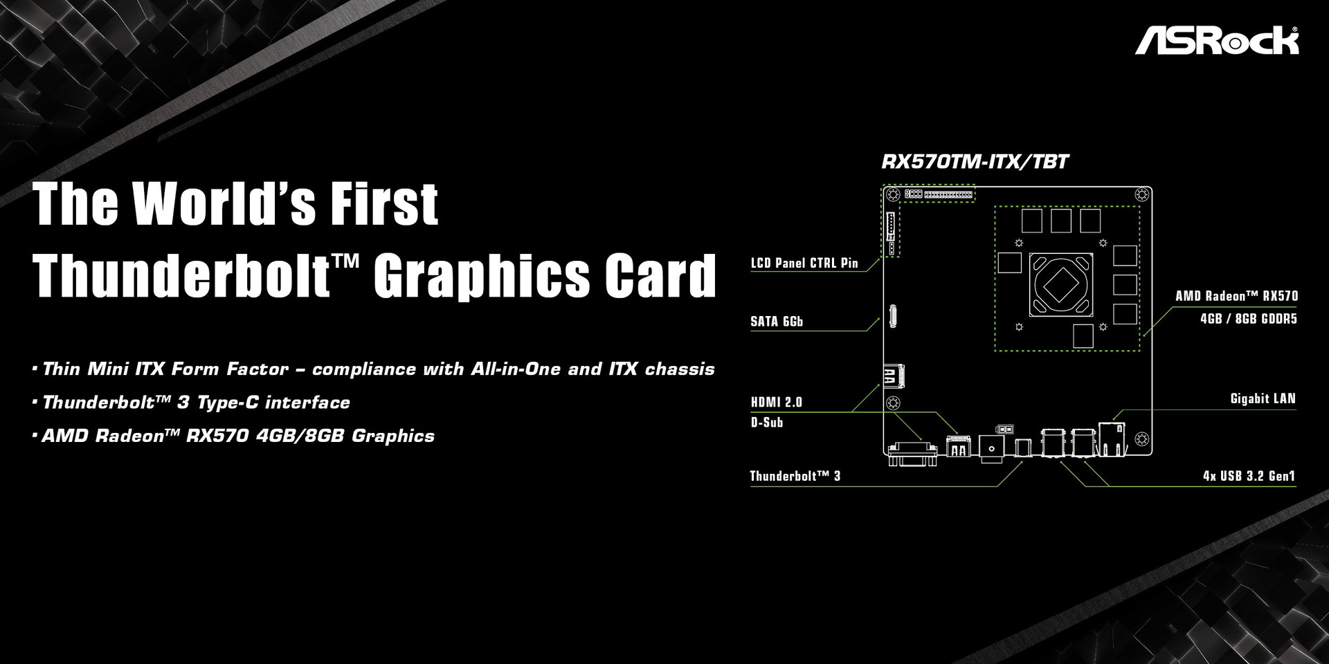 ASRock Unveils World's First Thunderbolt 3 Graphics Card