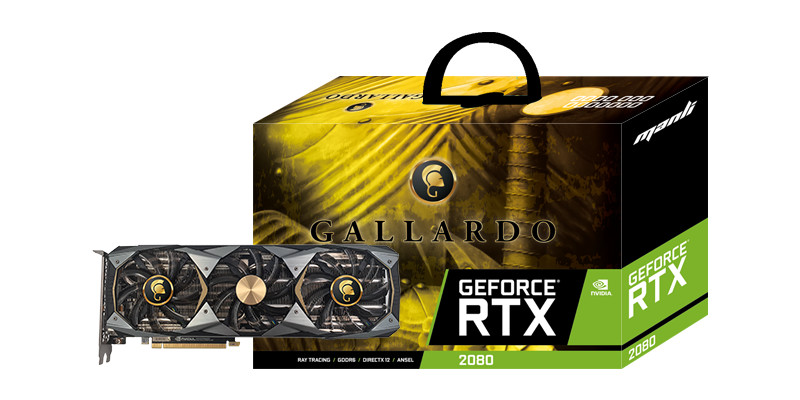 Manli Announces GeForce RTX 2080 Ti and RTX 2080 Gallardo