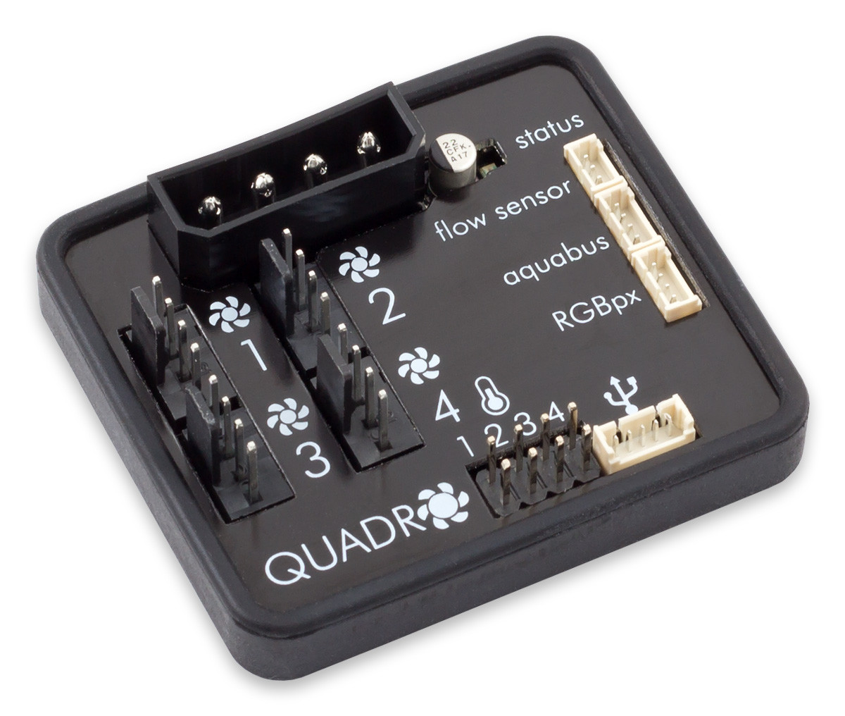 Aqua Computer Announces The Quadro Smart Led Fan Controller Temperature Controled In Addition To Setting Speed Manually Can Also Be Controlled By Mode Set Point Controllers As Well