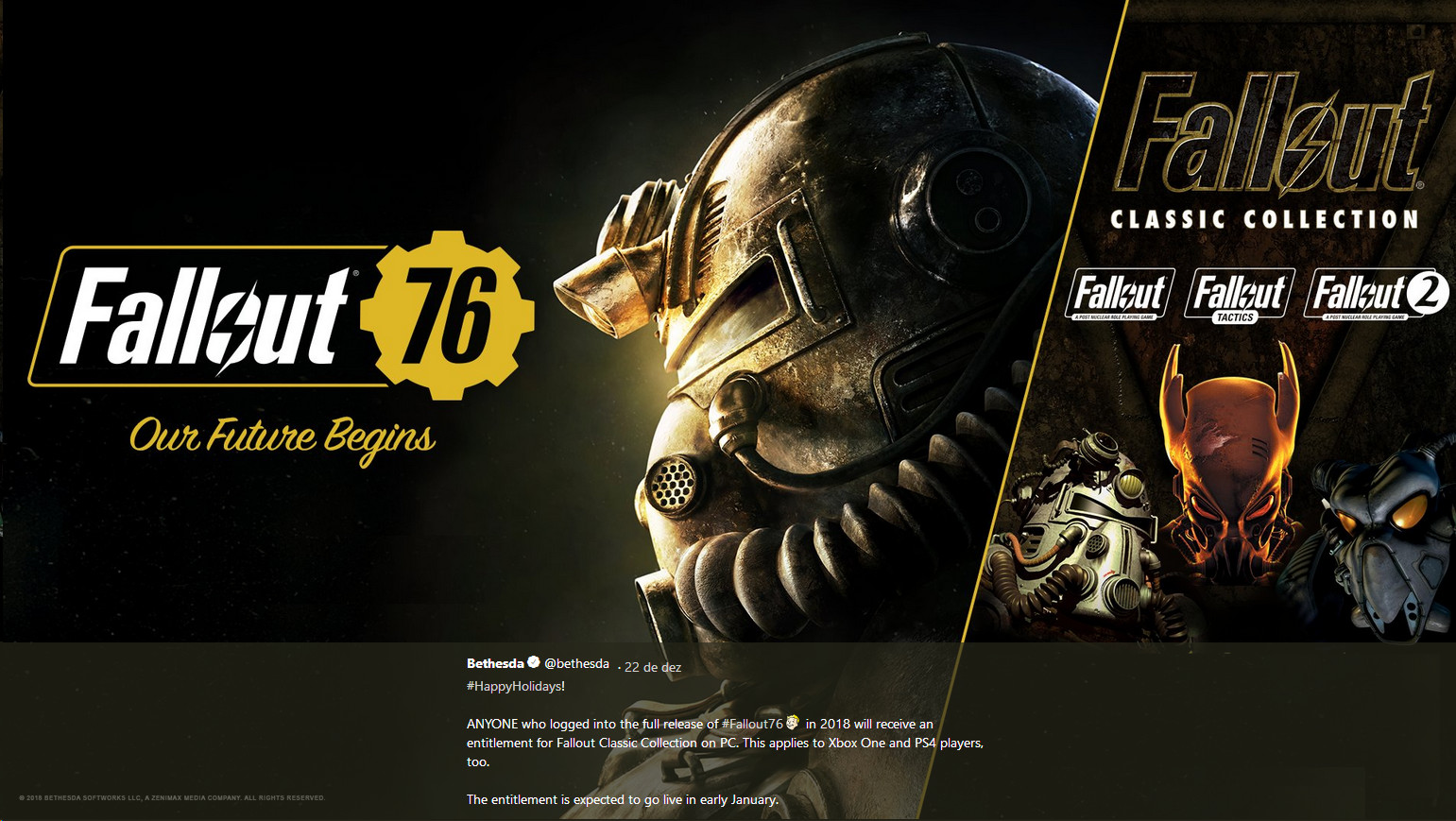 Bethesda is Feeling Generous, or the Apology: 2018 Fallout 76
