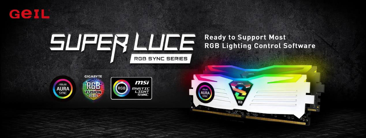 GeIL Super Luce RGB SYNC Gaming Memory Now Supports Most