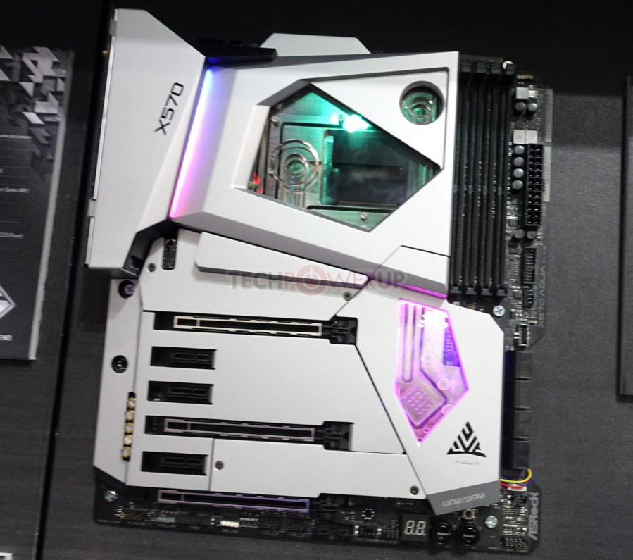 ASRock X570 Aqua is a $1000 Zen2-ready Liquid-Cooled