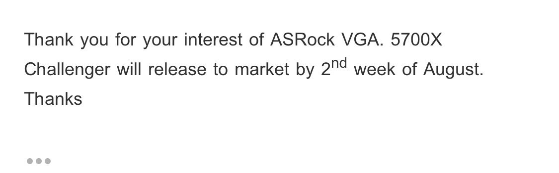 ASRock Confirms Mid-August Launch of its Custom RX 5700 XT