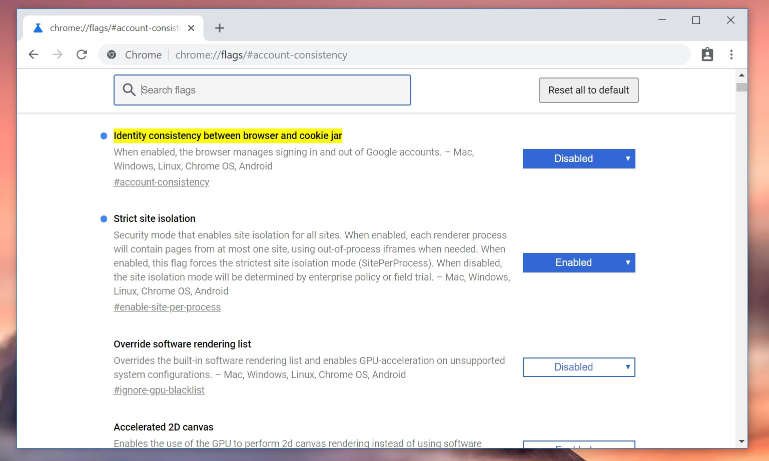 Forced login in Google Chrome v69: how to disable - Off