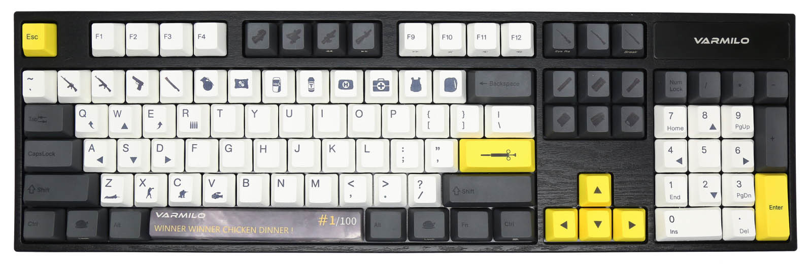 Varmilo Launches the 'Chicken Dinner' Mechanical Keyboard for PUBG