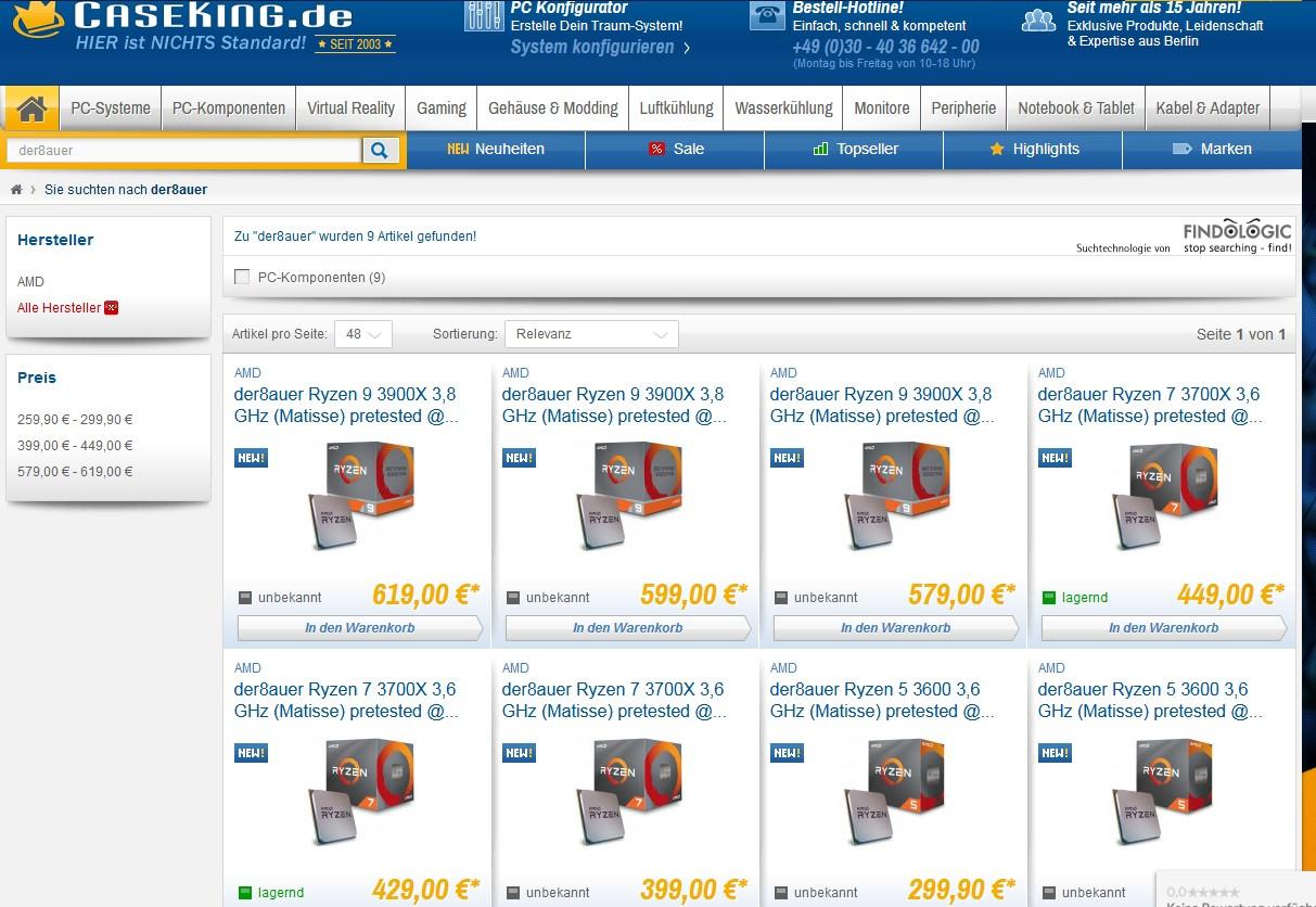 Caseking Adds Binned Ryzen 3000 CPUs to Its Offerings - EVGA Forums