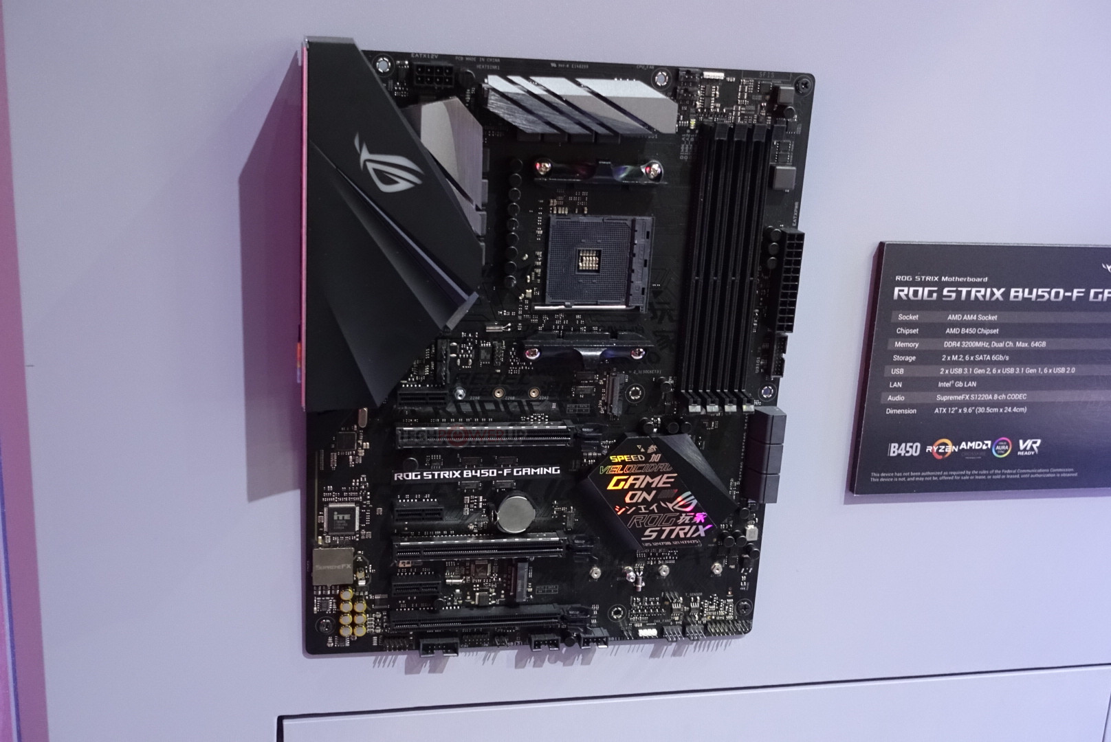 ASUS ROG Strix B450-F Gaming Motherboard Pictured | TechPowerUp