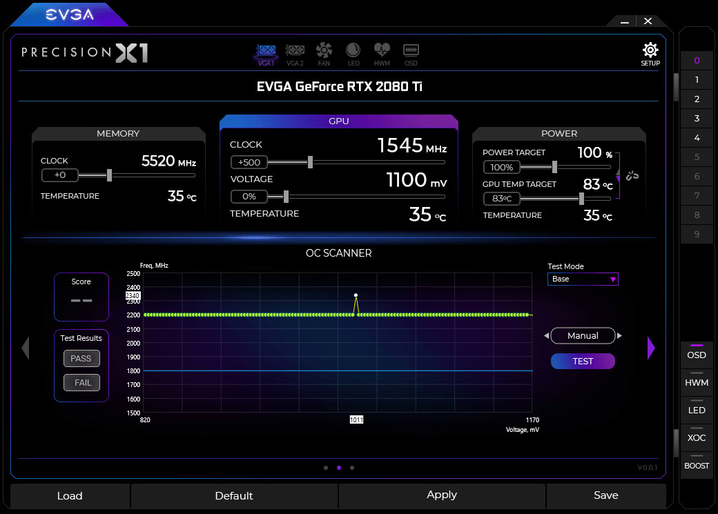 how to overclock evga precision x