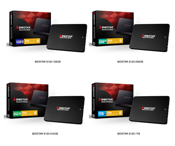 BIOSTAR Launches the NEW S120 Series Ultra Slim SSDs
