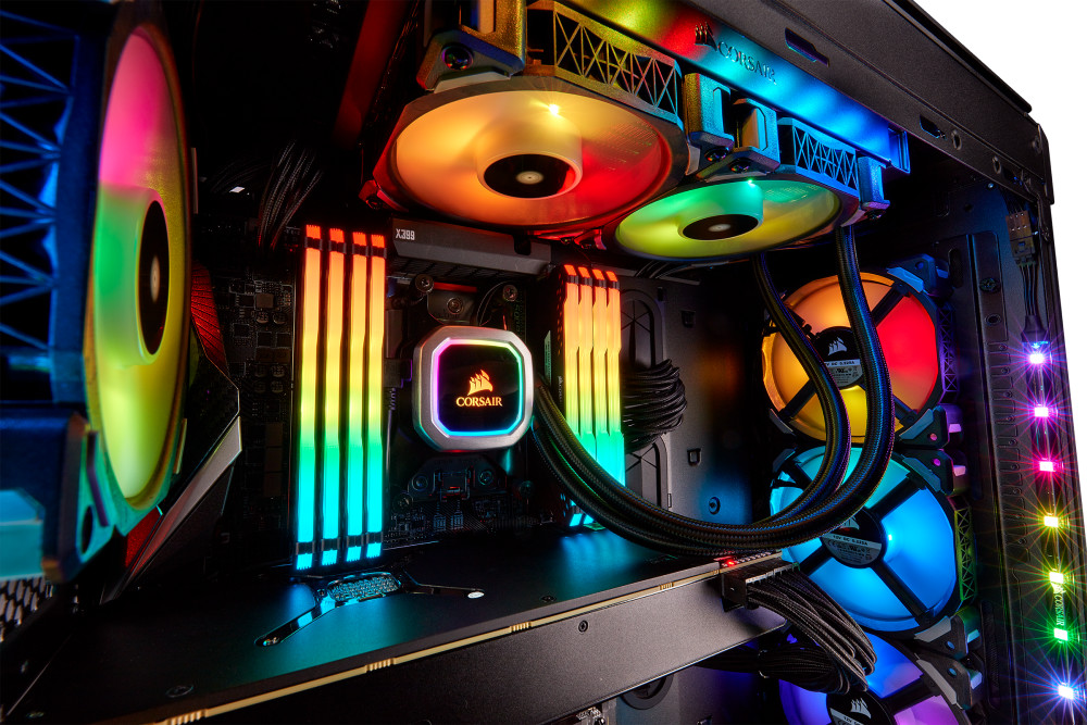 Image result for CORSAIR ICUE H100i PRO XT RGB 240mm CPU LIQUID COOLER