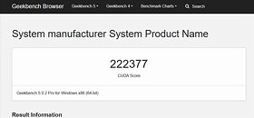 NVIDIA Ampere Geekbench