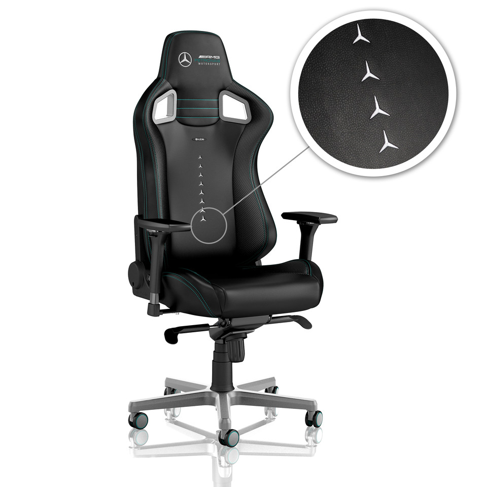Astonishing Noblechairs Introduces Mercedes Amg Petronas Licensed Gaming Evergreenethics Interior Chair Design Evergreenethicsorg