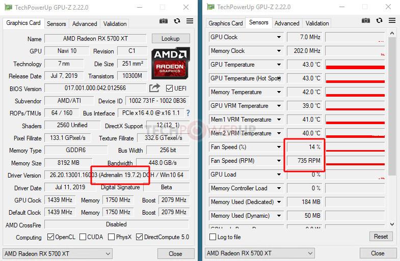 AMD Radeon 19 7 3 Drivers Increase RX 5700 Series Idle Fan