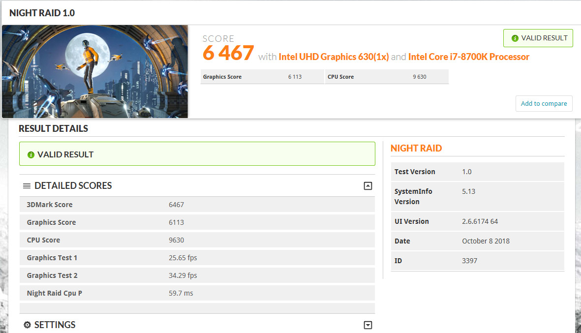 Latest 3DMark Update adds Night Raid DX12 Benchmark for