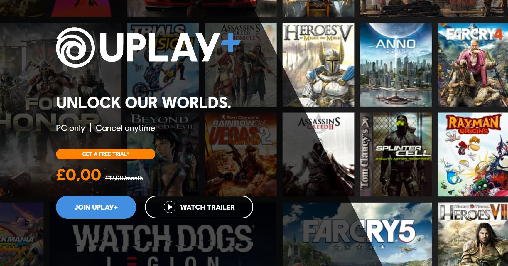 Ubisoft's UPlay+ Goes Live, September Month Free | TechPowerUp