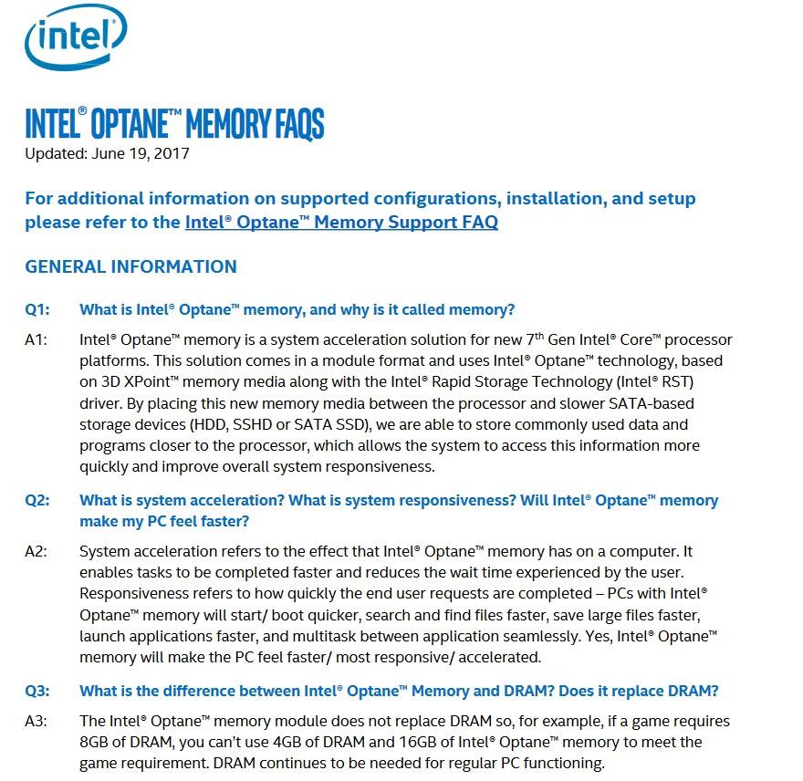 Wishful Thinking, Disingenious Marketing: Intel's Optane