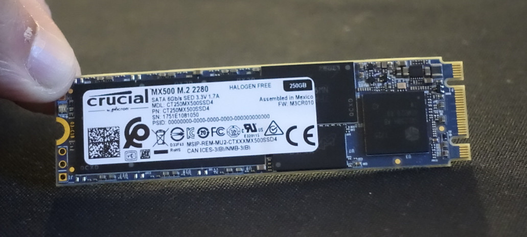 Crucial Shows Off Its MX500 M 2 SATA SSD   TechPowerUp
