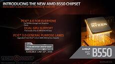 AMD B550 chipset highlights