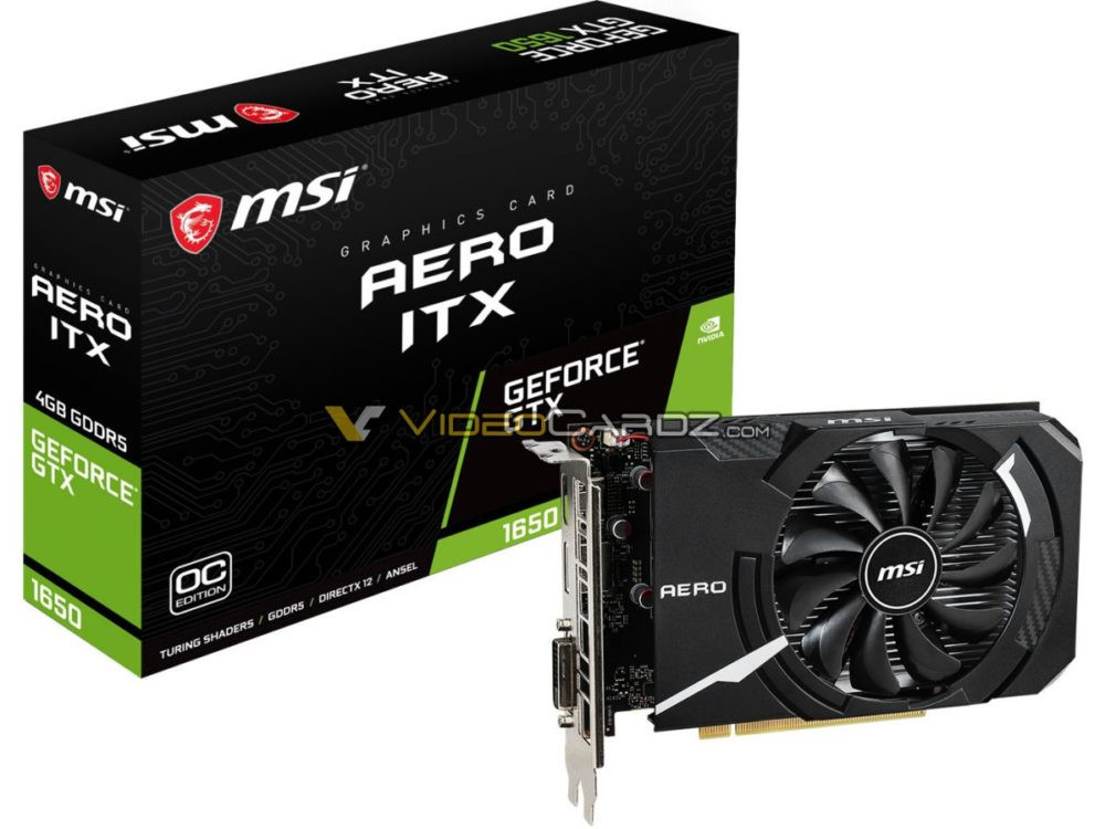 ASUS, GIGABYTE, MSI NVIDIA GeForce GTX 1650 Graphics Cards