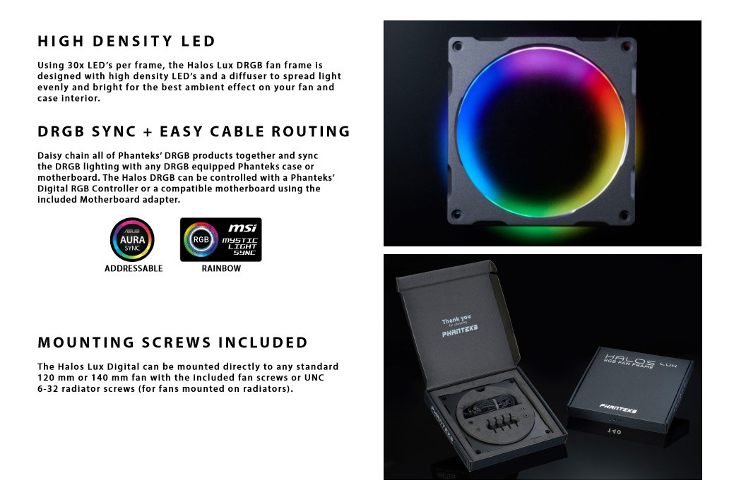 Phanteks Announces Range of Digital RGB Products | TechPowerUp