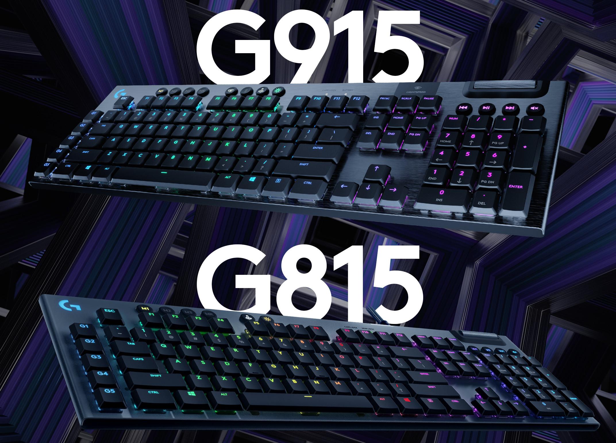 Logitech Announces G915 Lightspeed and G815 Lightsync