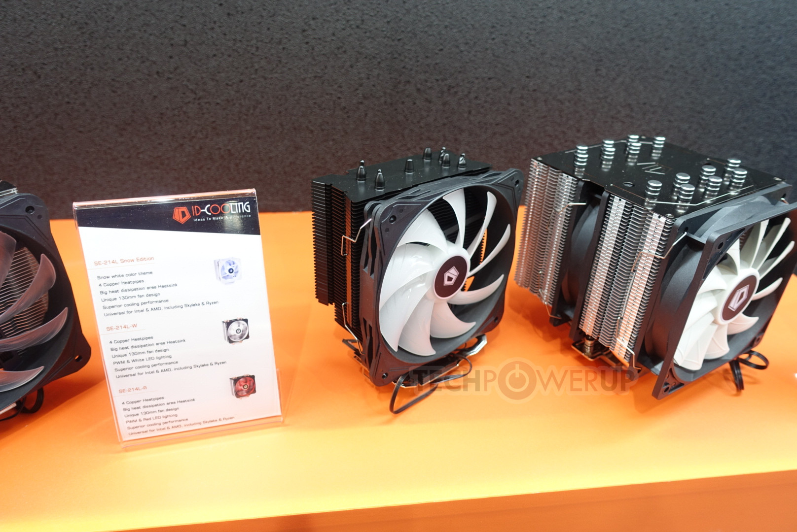 News Posts Matching Computex 2018 Techpowerup Id Cooling Tg 31 The Differentiation Here Is Mostly Done Via Fan Lighting With Same 4 Heatpipe Design And 130 Mm All Of These Tower Cooler Designs Have