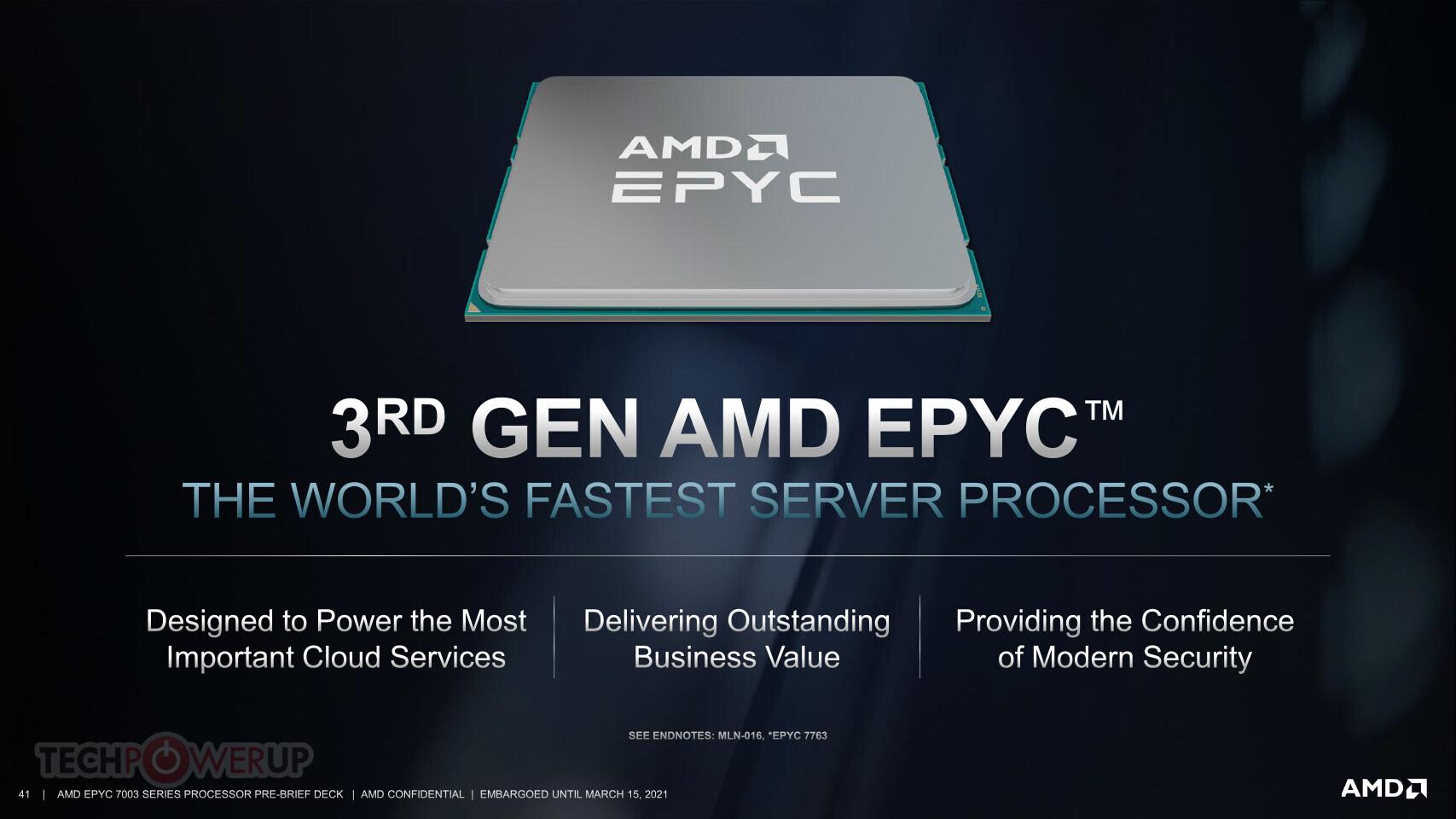 AMD представляет корпоративные процессоры EPYC 7003 3-го поколения