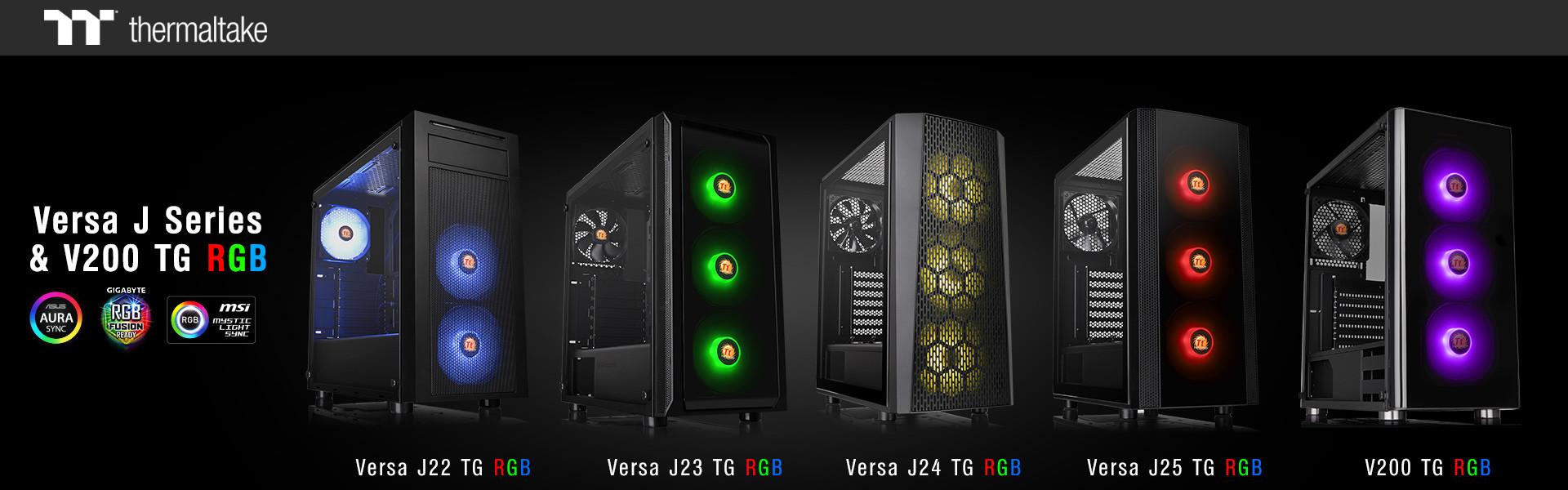 Thermaltake Unveils Versa J Series & V200 TG Cases | TechPowerUp