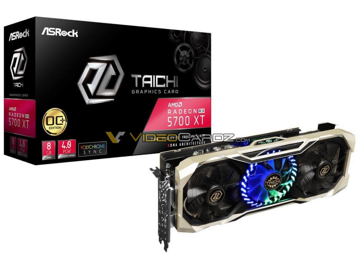 ASRock Radeon RX 5700 XT Taichi OC+ Pictured